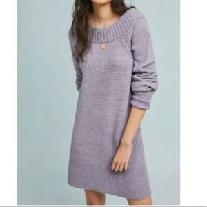 Anthropologie Rhyme Lavender Wool Sweater Dress